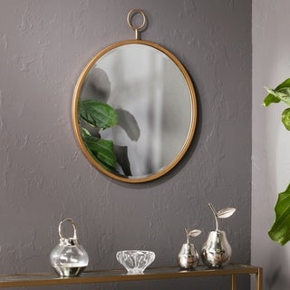 Silver Orchid Grant Decorative Wall Mirror - Golden Bronze