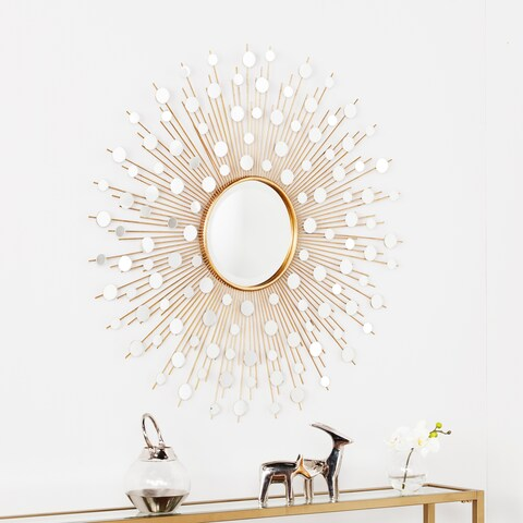 Silver Orchid Grant Glam Starburst Wall Mirror - Gold