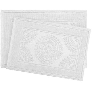 Jean Pierre Cotton Stonewash Medallion 2-Piece Bath Rug Set (2 options available)