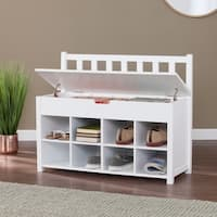 Clay Alder Home Tyne White Shoe Storage Bench