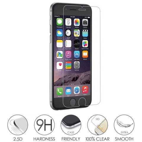 2 Pack Tempered Glass Screen Protector for iPhone 5/6/6plus/7/7Plus