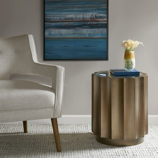 Madison Park Ortega Bronze Round Accent Table