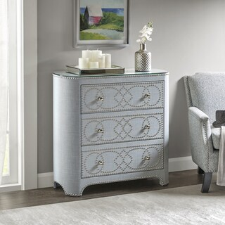 Madison Park Macarthur Light Blue 3-drawer Chest