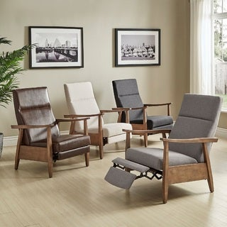 contemporary living room chairs. brayden mid-century wood arm recliner by inspire q modern contemporary living room chairs a