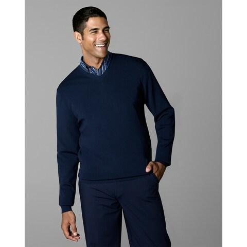 Twin Hill Mens Sweater Navy Rayon/Nylon V-Neck