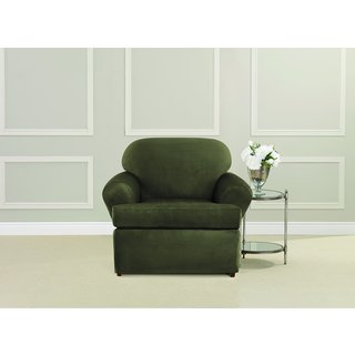 sure fit ultimate heavyweight stretch suede tcushion chair slipcover