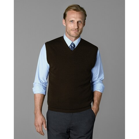 Twin Hill Mens Sweater Brown Heather Super Soft V-neckline