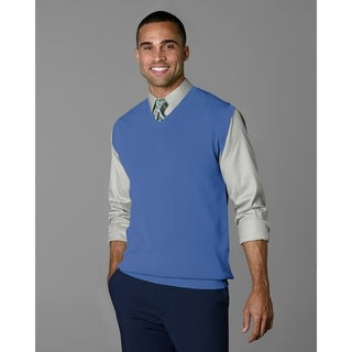Twin Hill Mens Sweater Cobalt Rayon/Nylon V-Neck