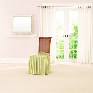 Sure Fit Lucky Stripe by Waverly Dining Seat Skirt
