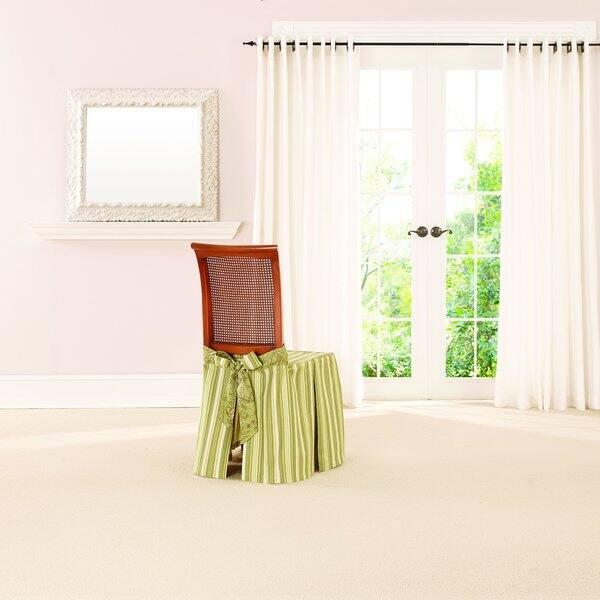 Pleasant Sure Fit Lucky Stripe By Waverly Dining Seat Skirt Inzonedesignstudio Interior Chair Design Inzonedesignstudiocom