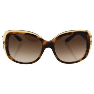 Bvlgari BV8172B 5379/13 - Women's Top Havana-Brown Crystal/Brown Gradient Sunglasses