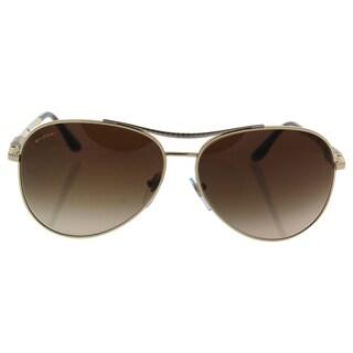 Bvlgari BV6075 2004/13 - Women's Pale Gold-Silver/Brown Gradient Sunglasses