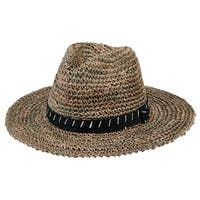 San Diego Hat Company/Mens Collection/Crochet straw fedora- natural