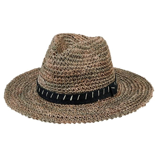 5702b08d286ed3 San Diego Hat Company/Mens Collection/Crochet straw fedora- natural