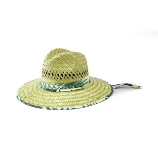 San Diego Hat Company/Mens Collection/Straw Outback- natural w/print band