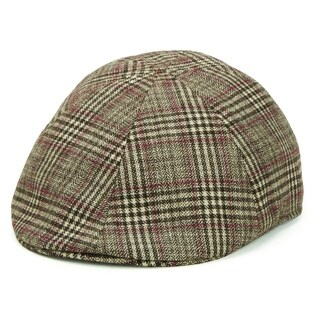 San Diego Hat Company/Mens Collection/Plaid ivy - brown, s/m