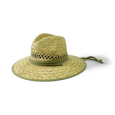 San Diego Hat Company/Mens Collection/Straw Outback- natural w/olive band