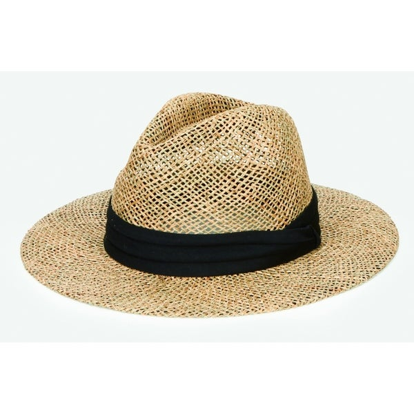 051f95ec358f3 Shop San Diego Hat Company Mens Collection seagrass panama - black - Free  Shipping On Orders Over  45 - Overstock.com - 17770594