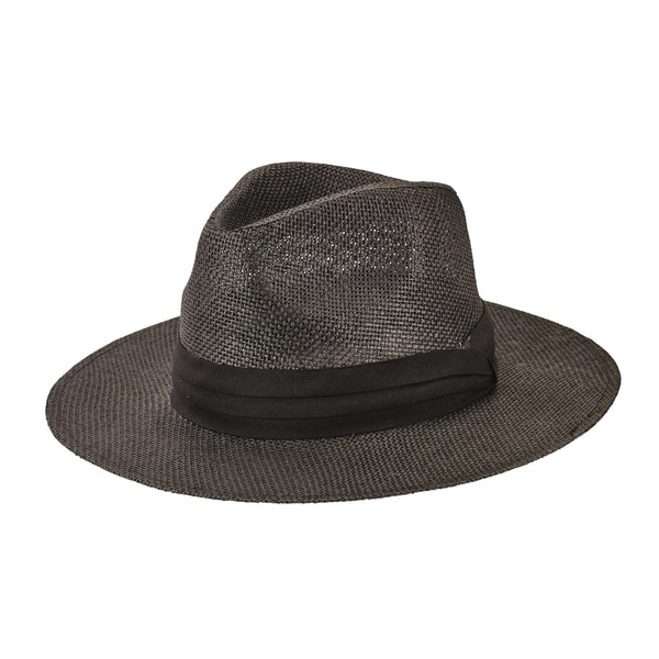 4ce679fce San Diego Hat Company/Mens Collection/Paper fedora - black