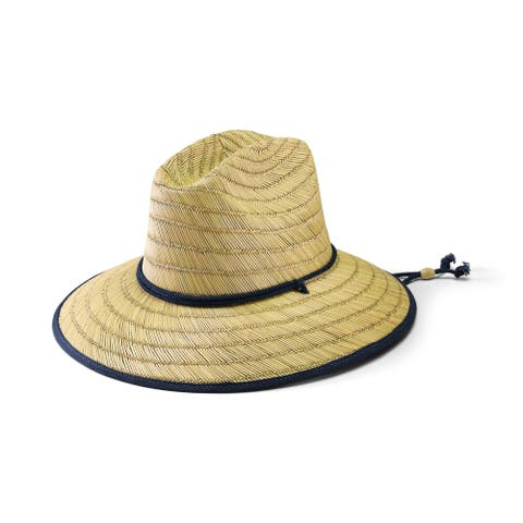 San Diego Hat Company/Mens Collection/Lifeguard - natural w/ navy
