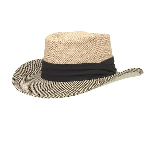 San Diego Hat Company/Mens Collection/gambler - natural w/ black