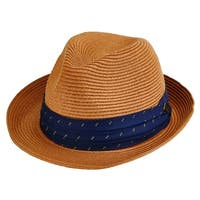 San Diego Hat Company/Mens Collection/paperbraid fedora - tobacco