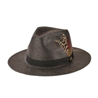 San Diego Hat Company/Mens Collection/paper fedora - black, l/xl