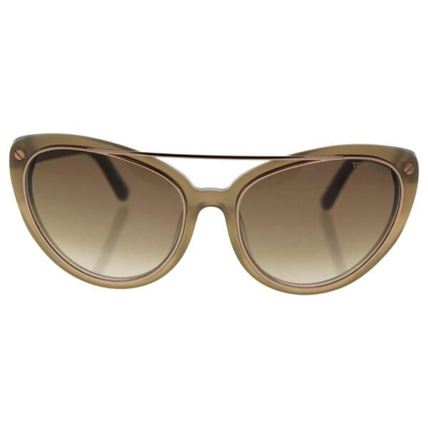 961f5a88f7 Shop Tom Ford FT0384 34F Edita - women s Shiny Light Bronze Brown ...