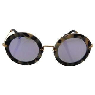 Miu Miu MU 13N HAO-2E2 - Women's Havana/Grey Blue Sunglasses