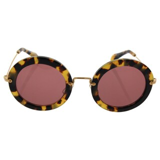 Miu Miu MU 13N 7S0-0A0 - Women's Tortoise/Pink Sunglasses