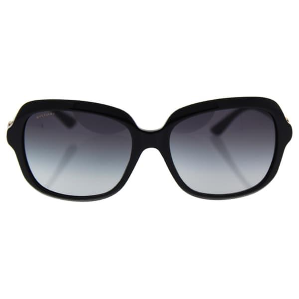 664af8effc05 Shop Bvlgari BV8176B 501 8G - Women s Black Grey Gradient Sunglasses ...