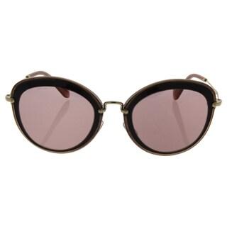 Miu Miu MU 50R TKW-4M2 - Women's Bordeaux/Pink Gold Sunglasses
