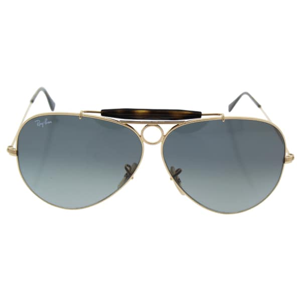 2c9b14b0f97 Shop Ray Ban RB 3138 181 71 Shooter - Women s Gold Grey Gradient ...