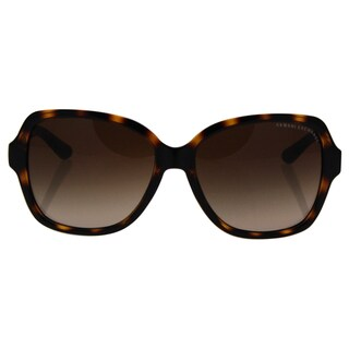 Armani Exchange AX 4029S 811713 - Women's Dark Tortoise/Dark Brown Gradient Sunglasses