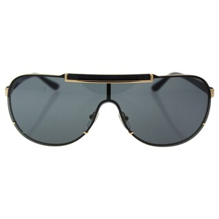 Versace VE 2140 1002/87 - Men's Black Gold/Grey Sunglasses