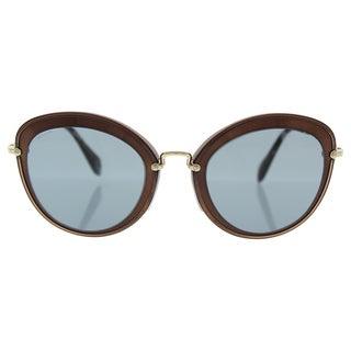 Miu Miu MU 50R UFB-9L1 - Women's Brown/Dark Grey Sunglasses