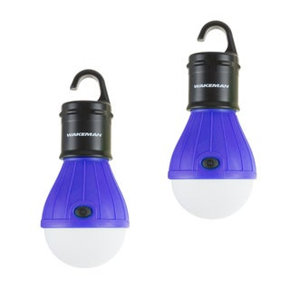 Portable LED Tent Light Bulb- 2 Pack Hanging Lights with 3 Settings & 60 Lumen By Wakeman Outdoors