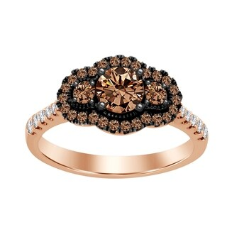 Cappuccino Diamonds 1.00ct Rose Gold Ladies Engagement Ring