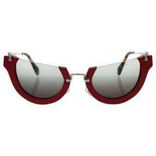 Miu Miu MU 11Q UA4-4N2 - Women's Red/Grey Gradient Sunglasses