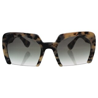 Miu Miu MU 06Q KAD-1E0 - Women's White Havana/Green Gradient Sunglasses