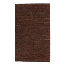 Hand-woven Chindi Brown Leather Rug (8' x 10')