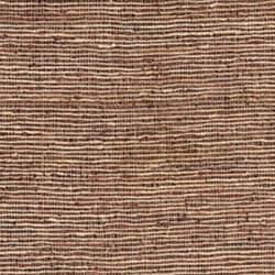 Hand-woven Brown Leather/ Hemp Rug (4' x 6')