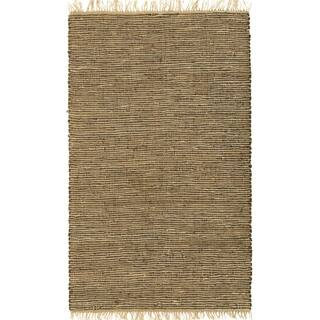 Hand-woven Brown Leather/ Hemp Rug (8' x 10')|https://ak1.ostkcdn.com/images/products/1777765/P10134431.jpg?impolicy=medium