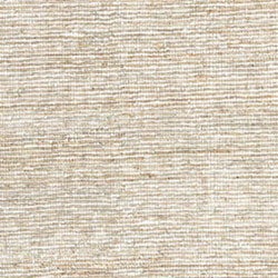Hand-woven White Leather/ Hemp Rug (8' x 10') - Thumbnail 1
