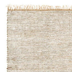 Hand Woven White Leather Hemp Rug 8 X 10 Free