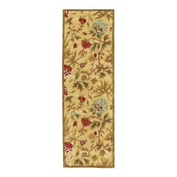 Hand-tufted Transitional Gold Wool Runner Rug (2'5 x 8')