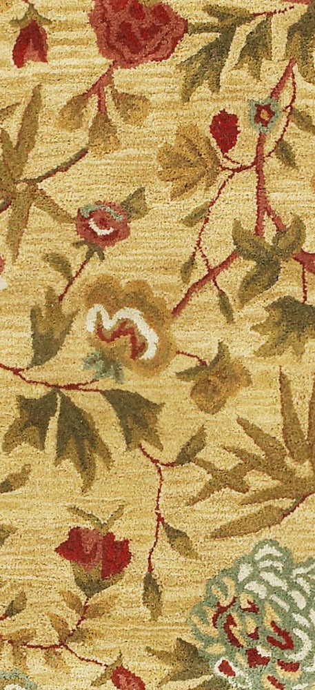 Hand-tufted Transitional Gold Wool Runner (2'5 x 12') - Thumbnail 1