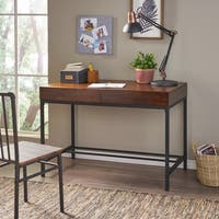 Ebany Industrial Acacia Wood Storage Desk by Christopher Knight Home
