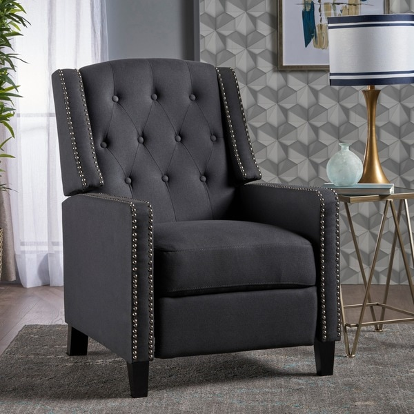 Izidro Tufted Fabric Recliner by Christopher Knight Home. Opens flyout.
