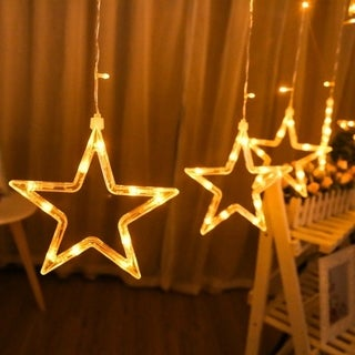 138 LED Romantic Stars Curtain String Fairy Light for Party Wedding Garland Party Decoration